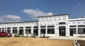 Commercial glazing, retail space