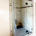 Custom corner shower