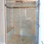 Heavy glass shower with custom slider (Madison)