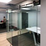 Pipeline office door sliders – interior office remodel