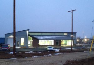 Madison Gas & Electric MG&E glass for new construction - new training facility in Fitchburg