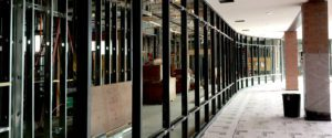 Fabricated commercial window frame structure