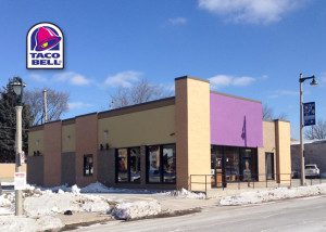 New Taco Bell in Milwaukee underconstruction - under construction. We installed the windows and doors