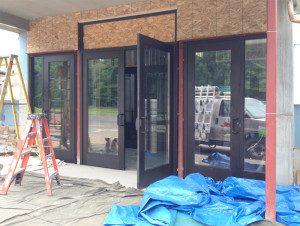 Glass installation for church Entrance Minocqua
