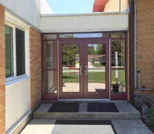 Commercial aluminum door entrance - Wisconsin churches and schools