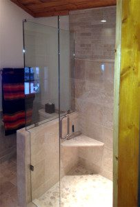 Glass shower installed by Area Glass in Madison, WI