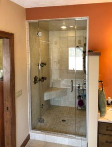 Custom steam shower enclosure we installed in Madison