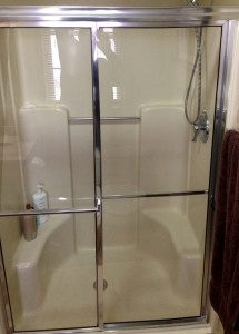economy shower with fibergalss insert installed in McFarland, WI