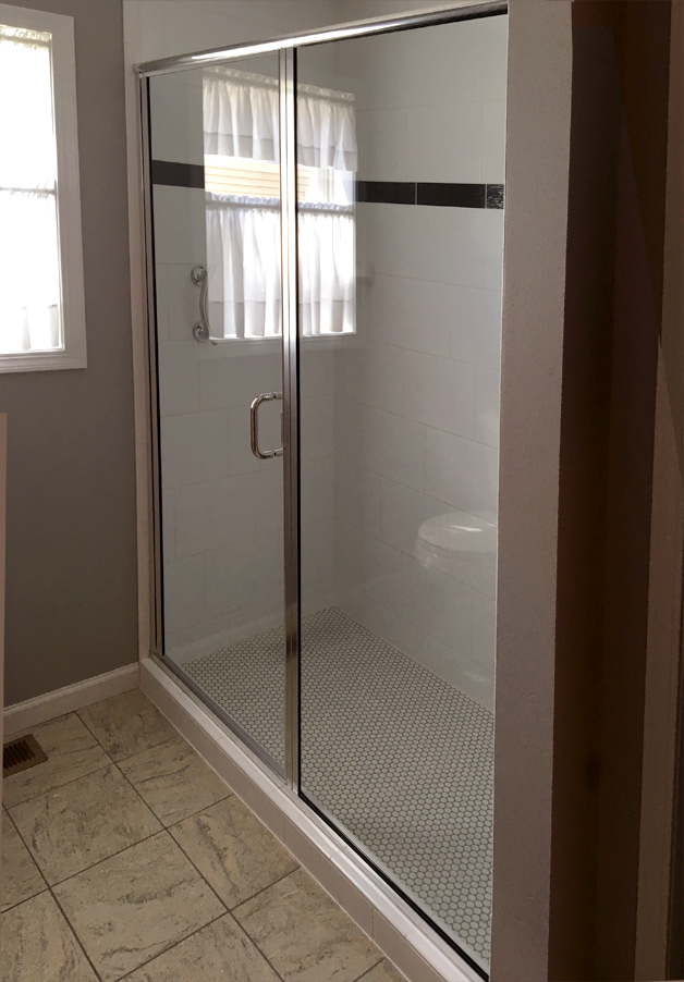 Semi-frameless Economy Shower. McFarland ... & Shower glass pictures | Area Glass WI - Madison/Oregon