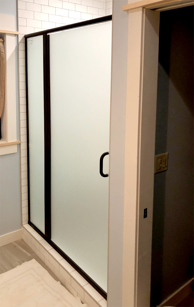 Frosted Glass Swing Shower Door