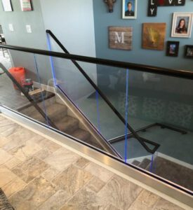 lighted edge glass railing system