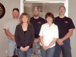 Five of us that get the glass job done right for you.