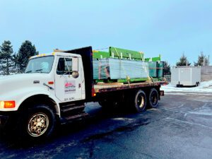 Area Glass truck headed for job site