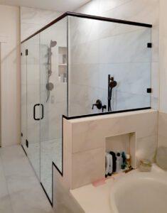 Stepped shower enclosure - exterior
