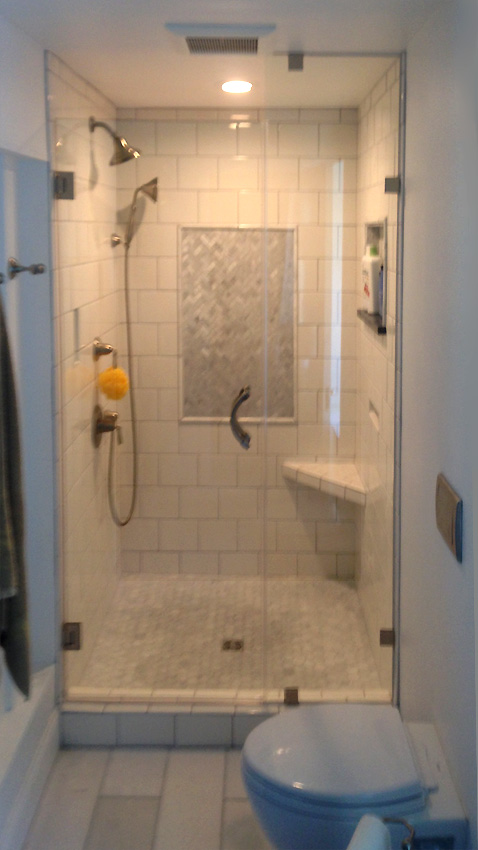 Custom Shower Door With Custom Clip System