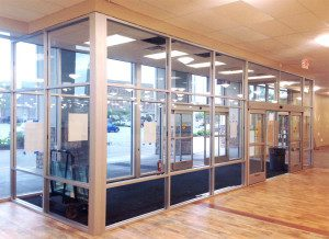 Sliding door entryway for Home Goods new store in Greenway Station Middletion, WI