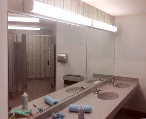 Big bathroom mirror - commercial glass (Madison, wi)