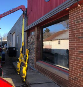 the new low-e window installed, power cup equipment nearby