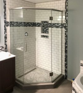 Mt. Horeb, WI - corner neo-angle shower with lots of personality