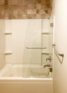 curved rounded swing shower door