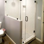 Elegant custom shower no header no channel