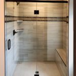 Shower enclosure for a new Bergamont home