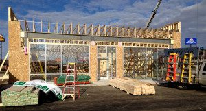 New store in Minnesota where we added all window framing & glass