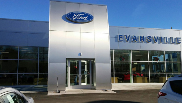 New construction windows & doors: Ford dealership