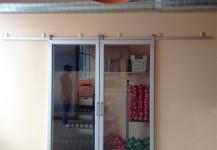 Custom sliding glass door for commercial spaces