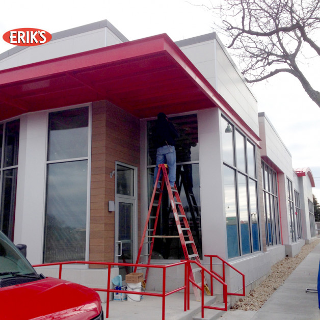 New construction – Kawneer frames and glass
