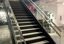 Interior store custom glass railing system