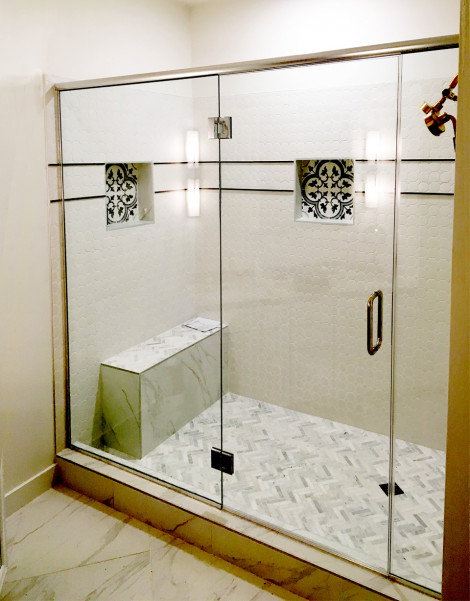 Big glass for big shower