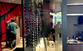 Interior custom glass wine cooler