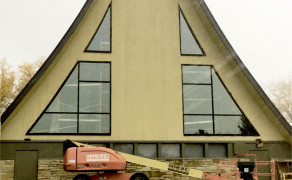New arched church windows