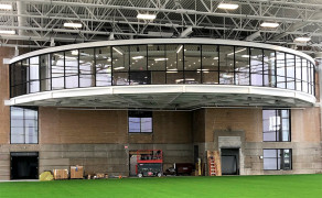 Stadium radius wall windows