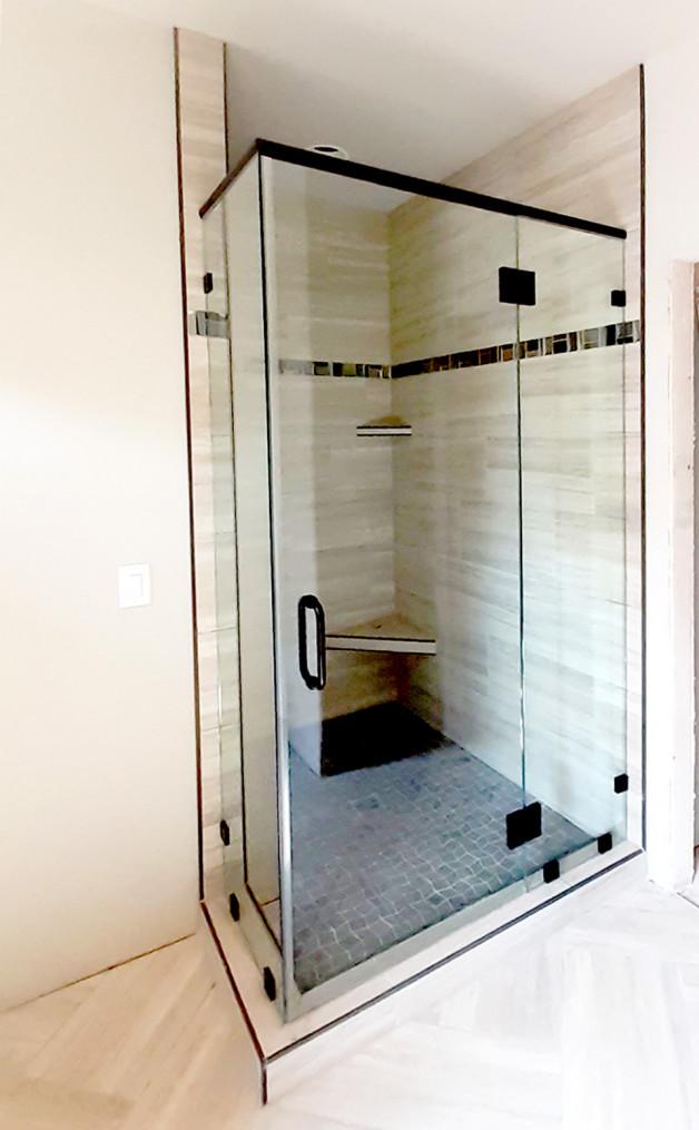 Custom corner shower