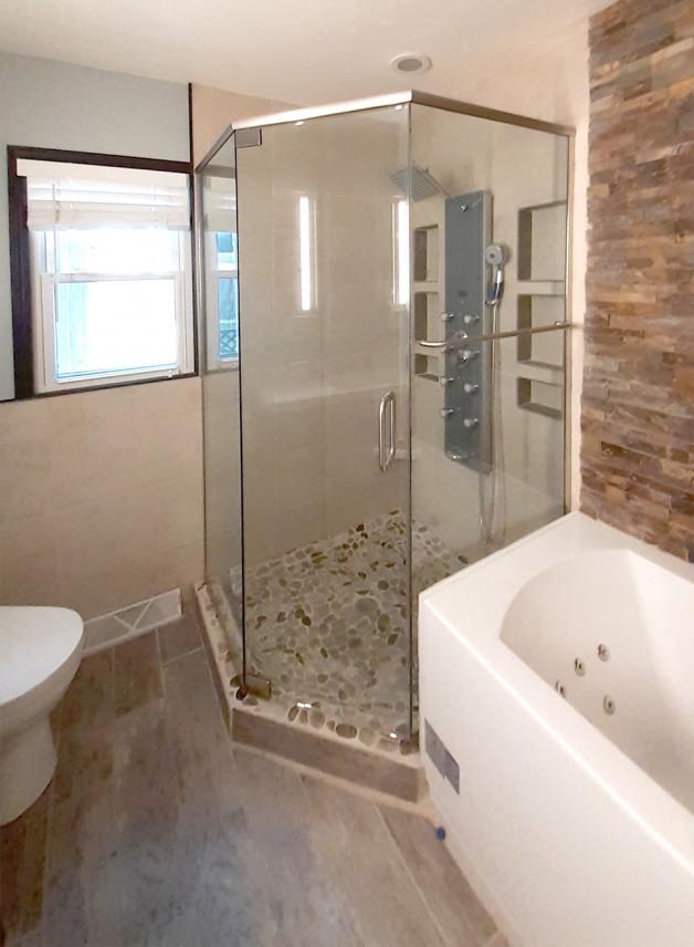 Custom neo-angle shower