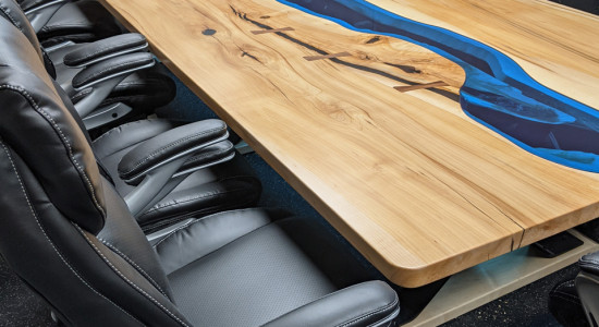 Blue river conference table