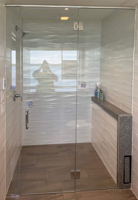 Custom all glass shower