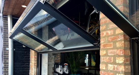 Custom foldable garage doors