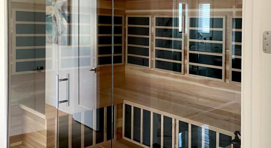 Custom doors for huge sauna