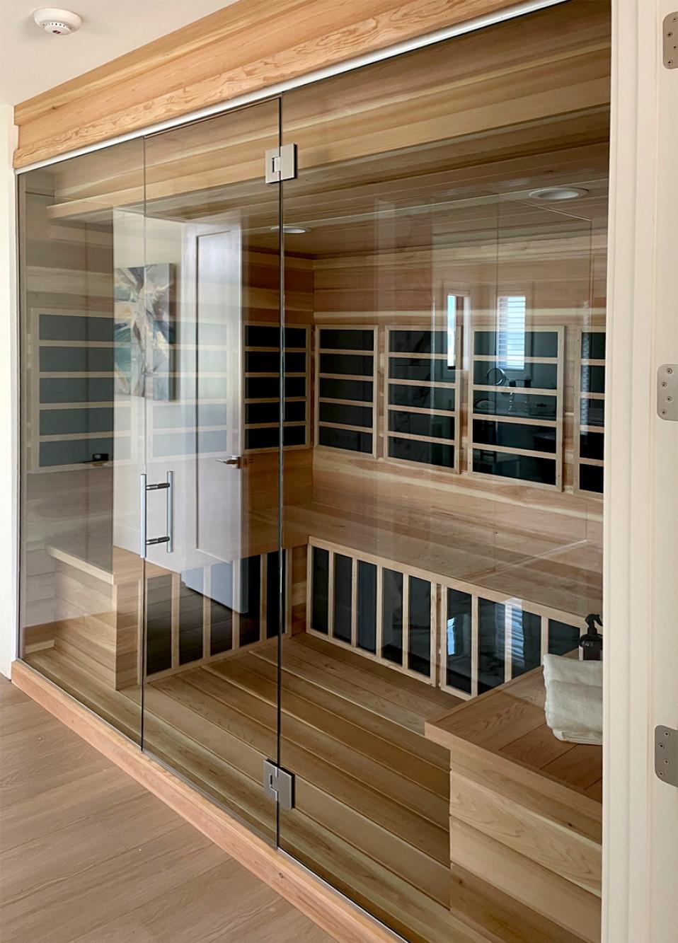 custom glass for sauna (Parade of homes, Waunakee)