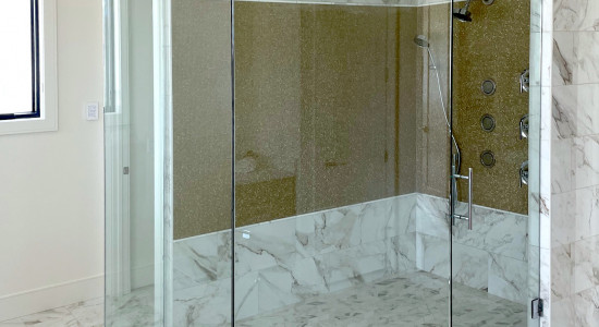 Large two-walled shower