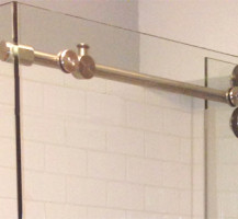 Custom Pipeline Shower Door Slider