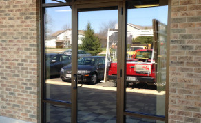 New aluminum & glass entrance