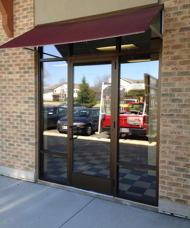 New aluminum & glass entrance