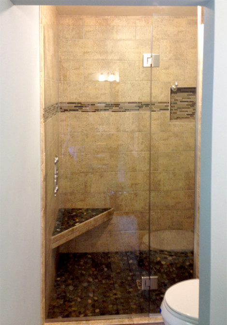 Custom shower glass installation