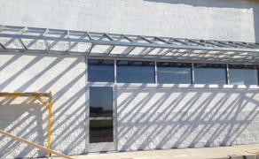 Commercial glass windows and door