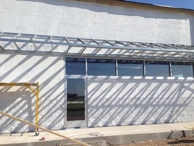 Commercial glass windows and door