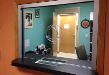 Bullet glass window